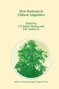 New Horizons in Chinese Linguistics