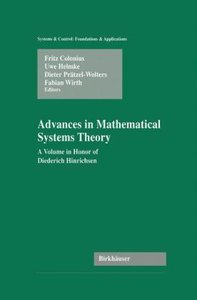 Advances in Mathematical Systems Theory