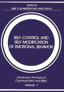 Self-Control and Self-Modification of Emotional Behavior