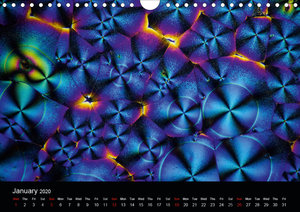 Microcrystals in polarized light (Wall Calendar 2020 DIN A4 Land