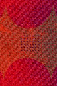 Premium Textil-Leinwand 50 cm x 75 cm hoch Punkte und Quadrat, R