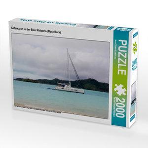 Katamaran in der Baie Mataorio (Bora Bora) 2000 Teile Puzzle que