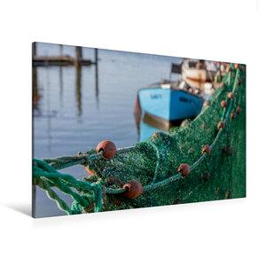 Premium Textil-Leinwand 120 cm x 80 cm quer Hafenromantik