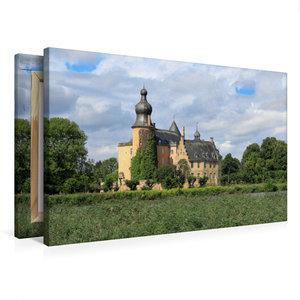 Premium Textil-Leinwand 75 cm x 50 cm quer Wasserburg Gemen in B
