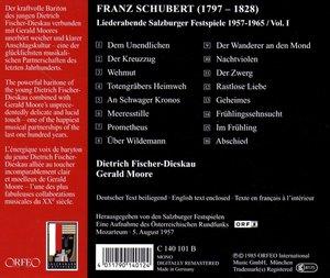 Salzburger Liederabende Vol.1:Dem Unendlichen/+