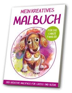 Mein kreatives Malbuch für die ganze Familie: Motiv Hund