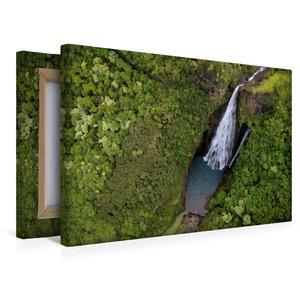 Premium Textil-Leinwand 45 cm x 30 cm quer Jurassic Falls