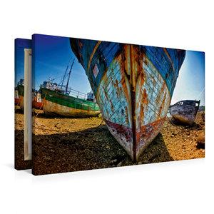 Premium Textil-Leinwand 90 cm x 60 cm quer Schiffsfriedhof in Ca