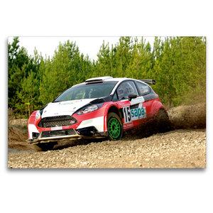 Premium Textil-Leinwand 120 cm x 80 cm quer Ford Fiesta R5