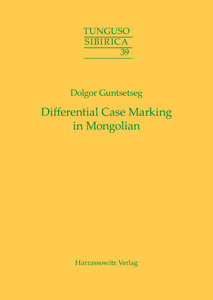 Differential Case Marking in Mongolian