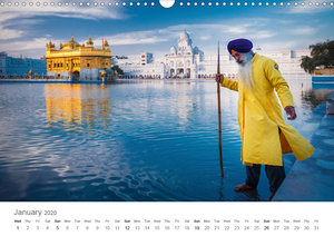 India - People Colours Religion (Wall Calendar 2020 DIN A3 Lands