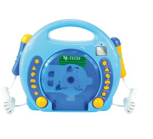 Karaoke CD Player MP3 2 Mikros boy-blau