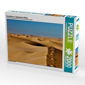 Sanddünen in ägyptischer Wüste 2000 Teile Puzzle quer