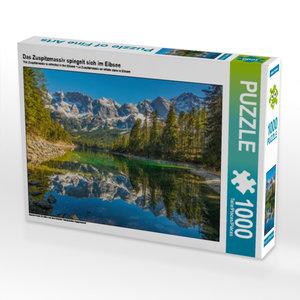 CALVENDO Puzzle Das Zuspitzmassiv spiegelt sich im Eibsee 1000 T