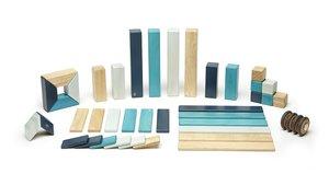 Magnetisches Holzset blau, 42 Teile