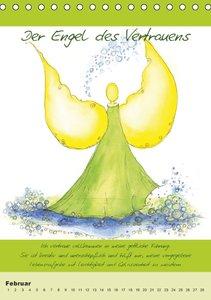 Immerwährender Engelkalender - Mit Aquarellbildern und Affirmati