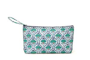 Tasche, bestickt - Design Blätter