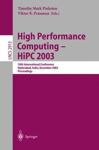 High Performance Computing -- HiPC 2003