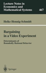 Bargaining in a Video Experiment