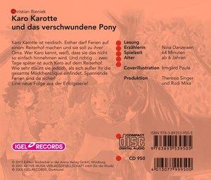 Karo Karotte und das verschwundene Pony. CD