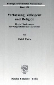 Verfassung, Volksgeist und Religion