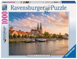 Regensburg, Blick auf die Altstadt (Puzzle)