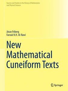 New Mathematical Cuneiform Texts