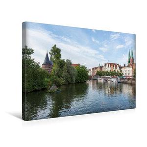 Premium Textil-Leinwand 45 cm x 30 cm quer Obertrave in Lübeck