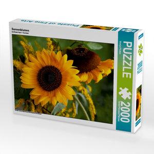 Sonnenblumen 2000 Teile Puzzle quer