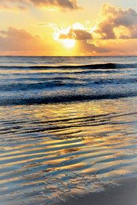 Premium Textil-Leinwand 50 cm x 75 cm hoch Sonnenuntergang