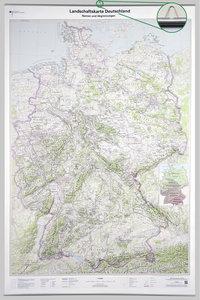 Poster Landschaftskarte Deutschland 1:750 000 mit Bestäbung
