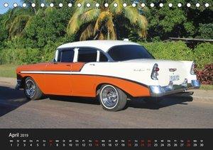 Oldtimertr?ume auf KUBA (Tischkalender 2019 DIN A5 quer)