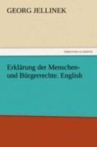Erklärung der Menschen- und Bürgerrechte. English