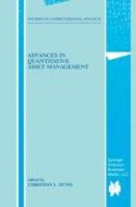 Advances in Quantitative Asset Management
