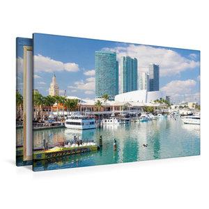 Premium Textil-Leinwand 120 cm x 80 cm quer Miami