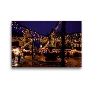 Premium Textil-Leinwand 45 cm x 30 cm quer Weihnachtsmarkt