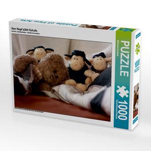 Herr Nopf zählt Schafe. 1000 Teile Puzzle quer