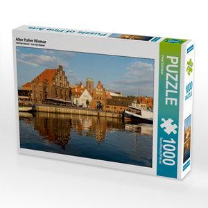 Alter Hafen Wismar 1000 Teile Puzzle quer