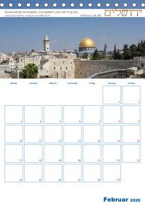 Jerusalem Kalender mit Bibelworten und Planer!