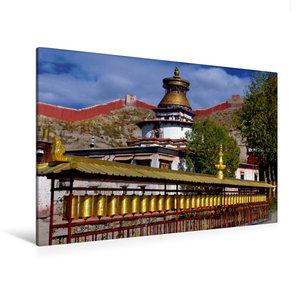 Premium Textil-Leinwand 120 cm x 80 cm quer Kumbum, Gyantse, Ü,