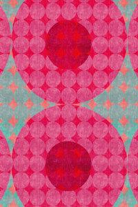 Premium Textil-Leinwand 80 cm x 120 cm hoch Punkte, Rot und Tür