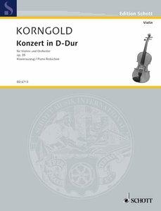 Konzert D-Dur. Klavierauszug mit Solostimme.