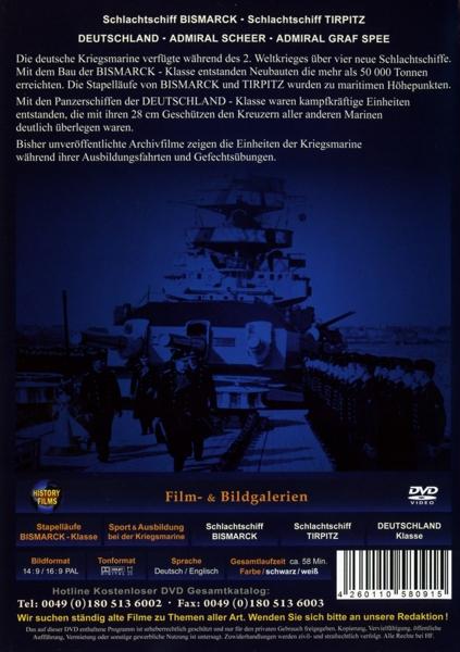 Zeitzeugen: Bismarck-Klasse & Panzerschiffe Deutschland-Klasse - zum Schließen ins Bild klicken