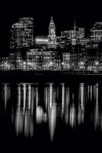 Premium Textil-Leinwand 80 cm x 120 cm hoch BOSTON Abendliche S