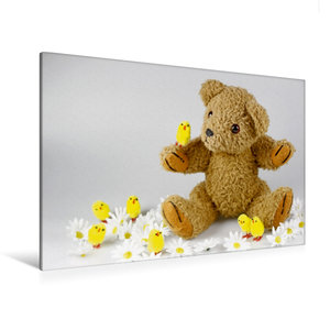 Premium Textil-Leinwand 120 cm x 80 cm quer Teddy KramBam