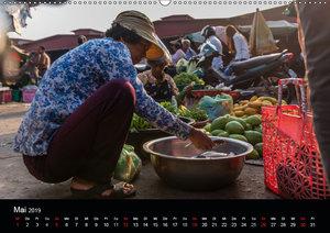 Märkte Kambodschas (Wandkalender 2019 DIN A2 quer)