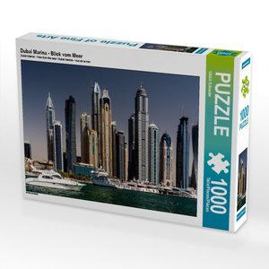 Dubai Marina - Blick vom Meer 1000 Teile Puzzle quer