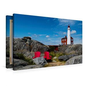 Premium Textil-Leinwand 90 cm x 60 cm quer Fisgard Lighthouse