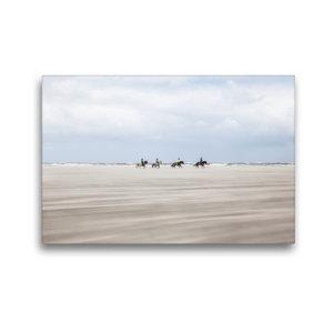 Premium Textil-Leinwand 45 cm x 30 cm quer Pferde im Sandsturm