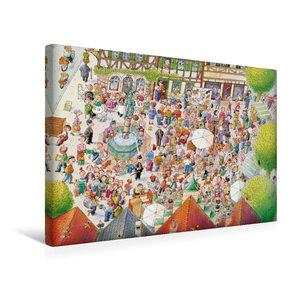 Premium Textil-Leinwand 45 cm x 30 cm quer Auf dem Flohmarkt ist